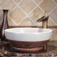 Ceramic N/A Countertop Sinks Hotel High End Luxury European Style Cloakroom  Washstand Above