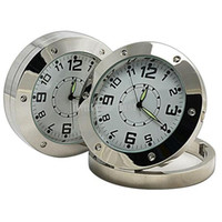 Wholesale mini video clock for sale - Clock DVR HD Motion Detection Foldable Round Table Clock Pinhole camera video recorder mini camcorder Home Security Camera
