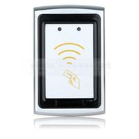 erişim kontrolü için kart okuyucuları toptan satış-Kalite Su Geçirmez Metal Wiegand 26 125 KHz EM 4100 RFID KIMLIK Kartı Okuyucu Erişim Kontrol Sistemi Seti K76
