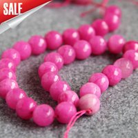 Wholesale Purple Jade Faceted - New For Necklace&Bracelet Accessories 14mm New Natural Purple jade Round shape Jasper DIY Beads jade stones Faceted Jewelry