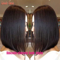 Wholesale Cute Brazilian Hair Lace Wigs - Lincoln Bob!Cute Brazilian Short Bob lace front wig and Bob Full lace wigs Cool Style for black women and White natural hairline