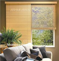 Wholesale Wood Blinds Horizontal - Wholesale-FREE SHIPPING ! WOOD VENETIAN BLINDS REAL WOOD-- MADE TO MEASURE 5CM & 3.5CM WIDTH SLATS