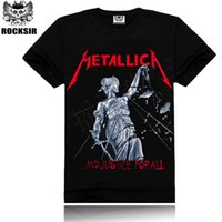 Wholesale T Shirts Wholesale Famous Brands - Wholesale- 2016 Iron Maiden Man Tshirt Metallica Beatles Summer Tops&Tees T shirt Rock Hip Hop T shirt Famous Brand