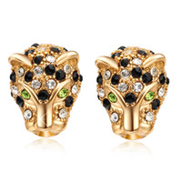 Wholesale stud vintage accessories resale online - New Arrival Tiger Head Stud Earrings K Yellow Gold Plated Vintage Animal Earings for Women Jewelry Accessories Fashion Jewelry