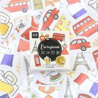 Venda Por Atacado - 45 Pcs / Lote de Viagens na Europa Mini Decalques de Etiquetas de Papel Diy Diário Scrapbook Cards Kawai Stationery Label Stickers