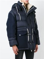Wholesale Men S Clothing Goose - Franch top quality Down Parkas For Men Stand collar hooded Bomber 100% White Duck down Male Long jacket Plus size Anorak Man Clothes
