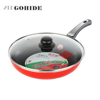 Wholesale gas cook stove for sale - Group buy Christmas Guh Super Flat Bottom Pot Frying Pan Kitchen Catering Cooking Pot Pan With Lid Electromagnetic Gas Stove Use