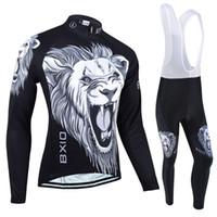 jersey de manga larga caliente al por mayor-BXIO Marca Winter Fleece Cycling Jerseys Road Cycling Clothes Warm Long Sleeves Sets Y Otoño Traje Bicicletas Ropa Dos Opciones BX-030
