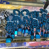 Wholesale Universal Zebra - 1M 3FT Charging Sync USB Cable Zebra Colorful Fabric Micro USB Cord Data & Sync Charger Cable For iPhone7,7s Samsung LG Smart Phone Colors