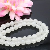 Wholesale Emerald Round Faceted Beads - Elegant White Emerald Jasper loose beads Round Jade Howlite DIY Faceted Stones 15inch Jewelry making 15inch wholesale 8mm