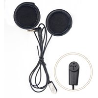 Wholesale Bluetooth V4 - Wholesale- 2016 updated V6 soft earphone with microphone Stereo headset for V6 V4 motorcycle helmet bluetooth intercom BT interphone