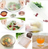 Wholesale Hot Home Kitchen Tool Clear Szie Square Reusable Silicone Food Wrapper Seal Cover Film