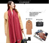 Wholesale Double Sided Cashmere Pashmina - Fashion Winter Scarf Women Cashmere Imitation Wool Imitation Wool Double-sided Shawl Long Thick Shawl Many Colors For Choice