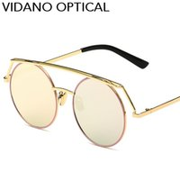 Wholesale Coat For Women Summer - Vidano Optical New Arrival Ultra Light Round Metal Men Sunglasses For Women Glasses Old School Retro Summer Fashion UV400 Coated Film Lens