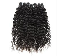Wholesale Cheap Hair Spirals - Wholesale 10pcs cheap brazilian virgin hair free shipping Spiral curl hair human hair weave free shedding tangle