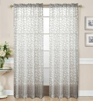 Wholesale Fashion Sewing Beads The Little Flower Sheer Curtains For Living Room Balcony Kitchen Drapes Voile Tulle Curtain For Windows Blooming