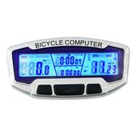 ingrosso bici digitale tachimetro-Sd558a Retroilluminazione LCD digitale per bicicletta Contachilometri per computer Bike Speedometer Cronometro
