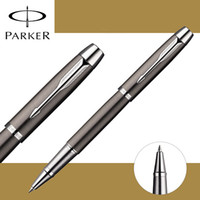 Wholesale Executive Ball Pen - 4 Colors Full Metal PARKER IM roller ball pen Business Executive Parker rollerball Pen as Luxury gift Writing Office Supplies