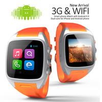 mobil cdma gsm toptan satış-X01 MTK6572 Çift Çekirdekli Android Akıllı Seyretmek Telefon GSM GPRS 3G WCDMA CDMA Cep Telefonu İzle Ile SIM Kart 2.0