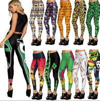 Wholesale Wholesale Printed Leggings - Women Halloween Skull Digital Print Leggings Yoga Sport Stretch Trousers Pants 3D Pumpkin Bloody Leggings Slim Leggings Trousers KKA2873