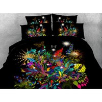 Wholesale Butterfly Twin Comforter - 2016New Style Hot Sale! High-grade luxury Cool Unique 3D Color butterfly 4Pcs Bedding Sets Full Twin Queen King Size Duvet Cover