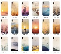 Wholesale Natural Clear Skin - Colored Drawing Scenery Clear Soft TPU Gel Slim Mountain City Sunset Ocean Natural Landscape Skin Cover Case For iPhone X 8 7 Plus 6 6S