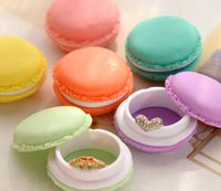 Wholesale Cute Candy Color Creative Storage Box Mini Earphone SD Card Macarons Shape Cake Design Bag Storage Box Case Carrying Pouch Bins
