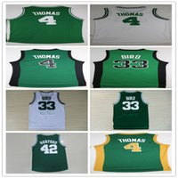 Wholesale Rugby Smart - Hot 4 Isiah 33 Larry Bird 42 Al Horford 36 Marcus Smart Jersey Green White 99 Jae Crowder Christmas Best Quality