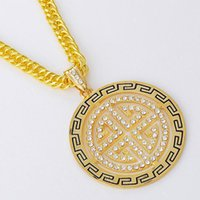 Wholesale Cheap Music Necklace - HOT sale jewelry cheap men fashion disk Pendant Necklaces hip hop Necklaces & Pendants street music Jewelry