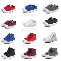 QUENTE Novo tamanho grande 35-44 High top Casual Shoes Low top Style sports stars chuck Classic Canvas Shoe Sneakers Men's / Women's Canvas Shoes