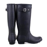 Wholesale Hunter Rain Boots Low Heels - 2017 Hunter Tall Boots Women Wellies Rainboots Ms. Glossy Wellington Rain Knee Waterproof Water Proofing Matte Shoes Wellington high boots