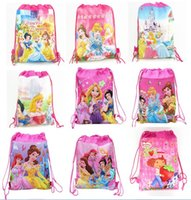 Wholesale Drawstring Bags Princess - Princess Children Drawstring Backpack Bags,Shopping School Traveling GYM bags,waterproof fabric,Party Gift Kids Cartoon Bags