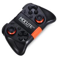 controlador de juego titular al por mayor-Original MOCUTE 050 Bluetooth Gamepad PC Game Controller para Smartphone TV Box con joystick integrado del soporte de Foldalbe