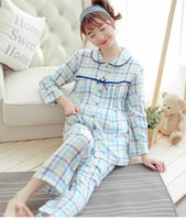 Wholesale Maternity Sleeping - 2017 new sleepwear maternity pajama nightgown maternity nursing pajamas set feeding pajamas sleep & lounge lactation