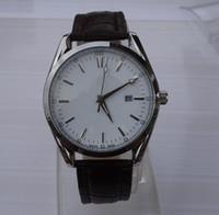 beliebte armbanduhren großhandel-Neues Modell hochwertige Herrenuhren Top-Marken-Luxus-Mode beliebt Herren Lederband Datum Kalender Quarz Armbanduhr