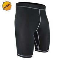 Wholesale Lycra Short Leggings - Wholesale- Summer Style High Quality SKinny Base Layer tight Black traning Leggings Quick Drying Compression Stretch Lycra Sweat Shorts
