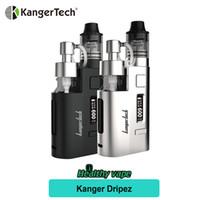 Wholesale Mini Oled - Sale! Original Kanger DRIPEZ 80W Starter Kit Kangertech DRIP EZ Vapor Kit OLED Display VS Subox Mini-C Topbox Mini Cupti 2 Kit