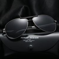 Wholesale Polarized Film Lenses - 2017 mens sunglasses brand designer male magnalium polarized sunglasses men's cassical color film frog glasses 10 colors optional