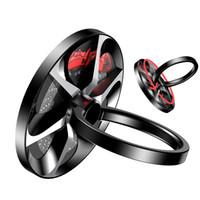 ingrosso porta anelli a mano-Baseus Hand Spinner Portachiavi in metallo Fidget Finger Spinner Supporto per telefono cellulare Stand per iphone x