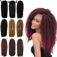 Wholesale afro kinky hair extensions 613 for sale - Hot g Afro Kinky Curly Twist Hair Crochet Braids Marley Braid Hair Extension Senegalese Twist Crochet Braiding Hair