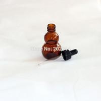 ingrosso capsula in plastica-Commercio all'ingrosso - all'ingrosso 2PCS 30ml di vetro liquido reagente pipetta bottiglia di vetro con contagocce a testa rotonda di vetro, tappi di plastica
