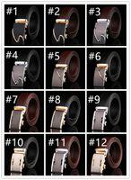 Wholesale Color Belt Strap For Men - Fashion leather waist belt Mixed style men's Automatic buckle belt strap genuine leather belt for men high quality 43 Color