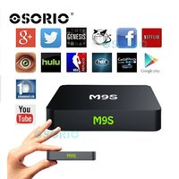 Wholesale Home Solutions - 20 PCS M9S Android TV Box Amlogic S905X RAM 1GB ROM 8GB Home Streaming Solution Android 6.0 KD 16.1 HDMI 2.0 4K Wifi Android Boxes