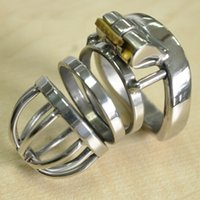Wholesale Male Sex Chastity - stainless steel arc cockring male chastity device penis cage cock ring cages bdsm men sex toys products for man cb6000s