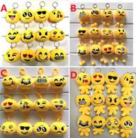 Wholesale Cute Doll Lovers - 2017 Newest Emoji Smiley Plush Doll Keychains QQ Expression Cute Cartoon Plush Pendant Keychains Expression Plush Toys Christmas Gifts