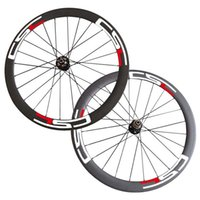 Wholesale Disc Brake Bike Wheel - Free Shipping 700C 50mm Carbon Clincher Tubular Cyclocross Disc Brake 6 Bolt Hubs Wheels Carbon Bike Bicycle Disc Wheelset