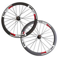 bisiklet disk hub'ları toptan satış-Ücretsiz Kargo 700C 50mm Karbon Kattığı Tübüler Cyclocross Disk Fren 6 Cıvata Hub Tekerlekler Karbon Bisiklet Bisiklet Disk Tekerlek