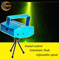 Wholesale Mini LED christmas laser lights Laser Stage Lights Projector Stage Lighting Adjustment Disco DJ Party Home Wedding Club Projector