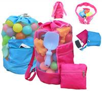 Wholesale Seashell Bags - Children Mesh Shell Bag Summer Beach Seashell Bag Shells Receive Bag Practical Storage Bags Shell Net Sand Away Beach Mesh Pouch IB096