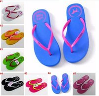 Wholesale Mop Slippers Wholesale - Girls Vs Pink Flip Flops Love Pink Sandals Pink Letter Beach Slippers Shoes Summer Soft Sandalias Beach Slippers Casual Rubber Sandals A 080